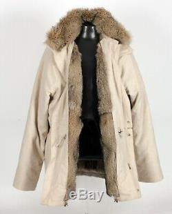 $11,000 LORO PIANA ICER COAT 100% CASHMERE with Removable FOX FUR Lining 2XL