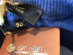 1,200$ Loro Piana Royal Blue Baby Cashmere sweater Size M, EU 50 Made in Italy