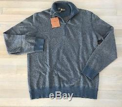 1,500$ Loro Piana Blue Cashmere Roadster Pull Size XL, EU 54 Made in Italy