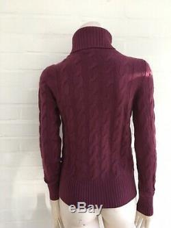 $2000 Loro Piana Ladies BABY CASHMERE Cable Knit Jumper Sweater Pullover I 42