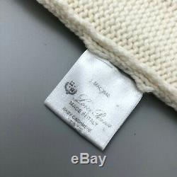 $2175 Loro Piana Ladies BABY CASHMERE Cable Knit Jumper Sweater Pullover Size 38