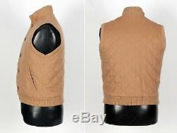 $2725 LORO PIANA 100% CASHMERE Quilted Vest Tan XS