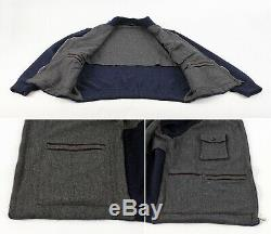 $2750 LORO PIANA CASHMERE BOMBER THICK Full Zip Jacket / Sweater Brown 52 L