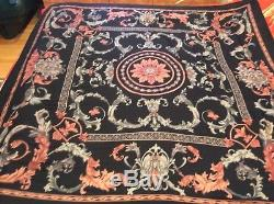 $2K+ICONIC GORGEOUS 2die4 LUXE LORO PIANA floral print cashmere/silk shawl/scarf