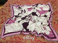 $2K ICONIC LUXE PRACTICAL WARM LORO PIANA floral print cashmere/silk shawl/scarf