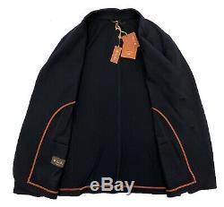 $2,725 Loro Piana 100% Cashmere Navy Blue Sweater Jacket Size XXL Made in Italy