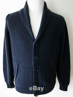 $3295 LORO PIANA Bromont Thick Baby Cashmere Shawl Collar Bomber 52 EU Large