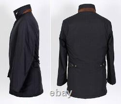 $3550 LORO PIANA STORM SYSTEM Cashmere Lined Coat Jacket Blue M Medium