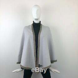 $3K Loro Piana Ladies BABY CASHMERE Cream Taupe Demi Carré Duo Scarf Shawl Stole