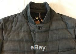 3,400$ Loro Piana Gray Real Down Cashmere Cloudey Jacket XXL Made in Italy