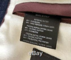 3,600$ Loro Piana Justin Navy Cashmere Coat Size XXXL Made in Italy