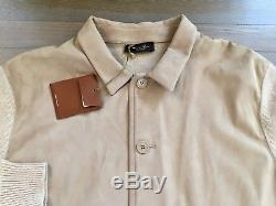 4,000$ Loro Piana Suede and Baby Cashmere Bomber Size XL, EU 54 Made in Italy