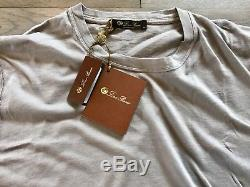 515$ Loro Piana Gray Cashmere/Cotton Shirt Size Large Made in Italy