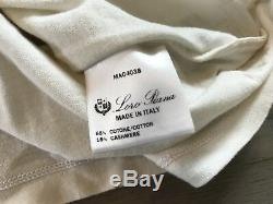 535$ Loro Piana Cream Long Sleeve Cashmere/Cotton Shirt XL Made in Italy