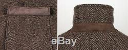 $5500 LORO PIANA 100% CASHMERE STORM SYSTEM Coat Jacket Brown 52 L Large