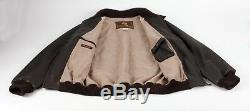 $6795 LORO PIANA DEER LEATHER / CASHMERE Coat Jacket Brown M