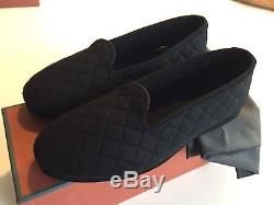 690$ Loro Piana Black Men's Cashmere Slippers Size US 8 Made in Italy