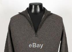 $935 NWT LORO PIANA 100% CASHMERE Roadster Pull Light Sweater Taupe 48 S M