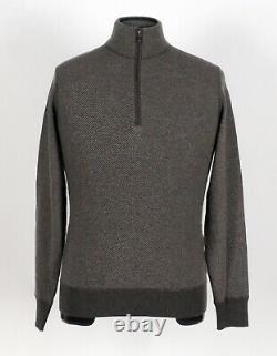 $950 NWT LORO PIANA 100% CASHMERE Roadster Pull Light Sweater Taupe 48 S M