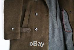 $9995 LORO PIANA 100% Baby Cashmere Suede Trim Double Breasted Coat Overcoat XL