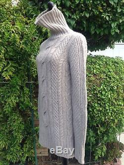 Auth NWOT- LORO PIANA Cashmere Cable Sweater Size 40