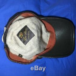 Huge Discount! Men Loro Piana Hat Leather&Cashmere SIZE S RRP £500/600