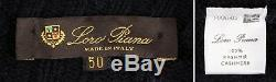LORO PIANA 100% CASHMERE BOMBER Full Zip Sweater Blue L Large