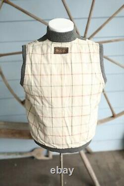 LORO PIANA 100% CASHMERE Quilted Vest Grey SZ Large $2,725