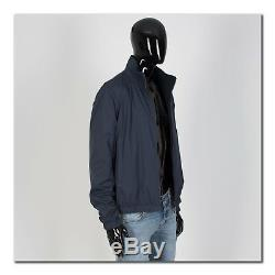 LORO PIANA 2695$ Navy Blue Cashmere Reversible Storm System Bomber Windmate