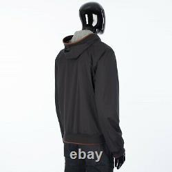 LORO PIANA 2995$ Hooded Bomber Jacket Technical Fabric Storm System & Cashmere