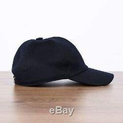 LORO PIANA Baseball S Cap In Navy Blue Cashmere Storm System