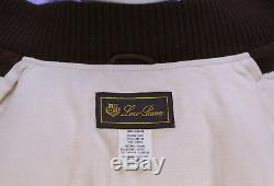 LORO PIANA Brown Diamond Quilted Suede Cashmere Lined Puffer Vest Large