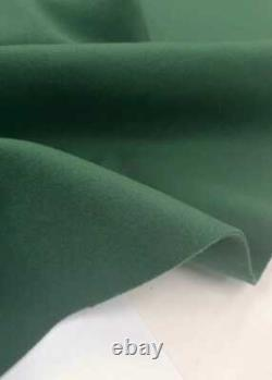 LORO PIANA CASHMERE WOOL FABRIC GREEN COATING, DOUBLE, 700g ITALY 2.0 meter