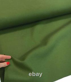 LORO PIANA CASHMERE WOOL FABRIC Heavy GREEN COATING Made in ITALY 2.0 meter