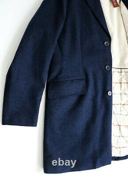 LORO PIANA Dark Blue Cashmere Padded with Suede Storm System Downtown Coat 2XL