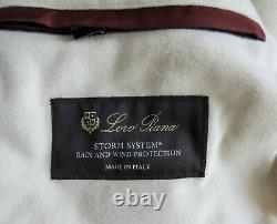 LORO PIANA Green Melange Cashmere Padded with Suede Storm System Downtown Coat 4XL