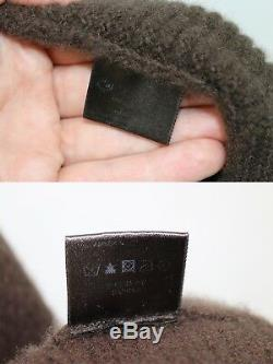 LORO PIANA Long Cashmere Wrap Cardigan Coat Size 52 L-XL LP Ring Made in Italy