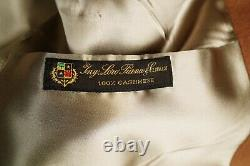 LORO PIANA Overcoat mens 40R Cashmere Camel Double Breasted Large Vintage