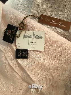 LORO PIANA Pale Pink cashmere/silk scarf/shawl Made in Italy NWT
