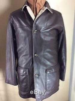 LORO PIANA Storm System Cashmere Twill/Lambskin Leather Reversible Coat-NWT