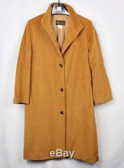 LORO PIANA Woman's 100% Cashmere Vicuna Brown Trench Women's 44 Medium M Jacket