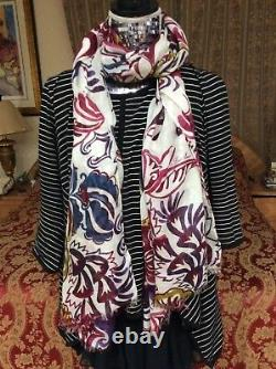 Like no others ICONIC LUXE LORO PIANA ornamental cashmere/silk scarf