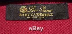 Loro Piana 100% Baby Cashmere Mockneck Women's Small S Size 40 Euro Coral Pink