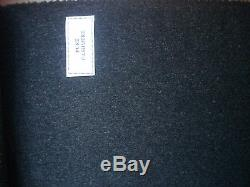 Loro Piana 100% CASHMERE Charcoal JACKETING/COATING FABRIC MADE IN ITALY- 2 m