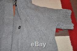Loro Piana 100% Cashmere Cable Knit 2-Way Sleeve Cardigan Sweater Jacket