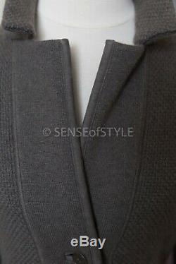 Loro Piana 100% Cashmere Suade Coat Cardigan Size IT40 S