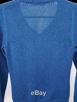 Loro Piana 50% cashmere 50% silk exquisite knit V neck sweater Women's Size 38