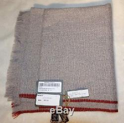 Loro Piana 60% Baby Cashmere/40% Cashmere Gray \Men's Scarf 72x20 NWT Italy
