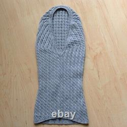 Loro Piana BABY CASHMERE Women Cable Knit Sweater Pullover & Hat, EU 44