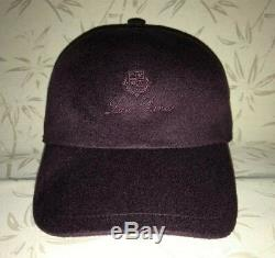 Loro Piana Baseball Cap Cashmere Purple Violet Size L Made in Italy